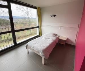 Chambre 2 lits simples avec salle de bain privative (vue sur la montagne)